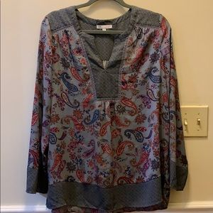 LADIES BLOUSE / TUNIC IN PAISLEY PRINT SIZE LARGE